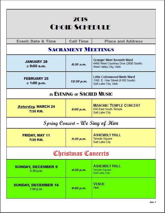 Schedule Rev. 10032018